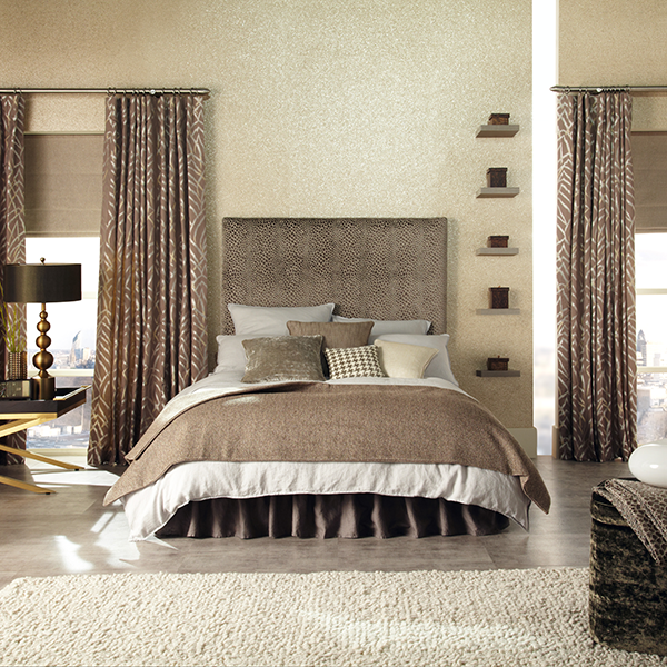 brown bedroom with decor
