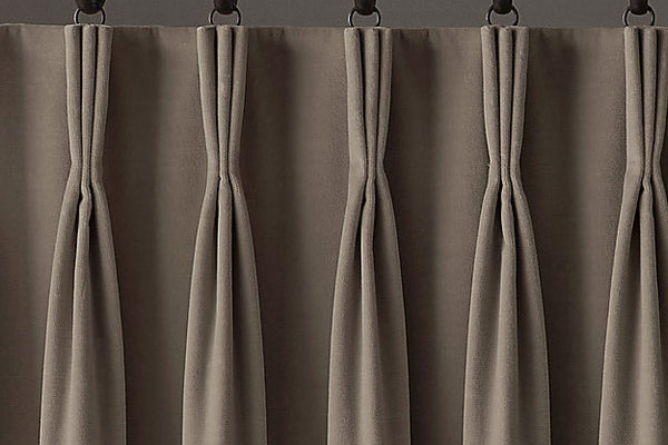 brown pinch pleat curtains